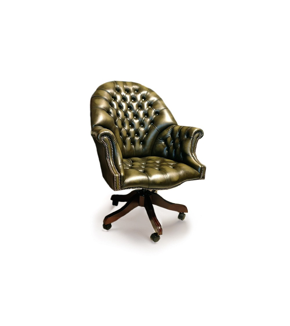 Churchill Traditional English Handmade Chesterfield Wing Chair