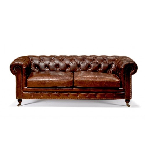 Mountbatten Traditional Handmade English Leather Chesterfield Sw