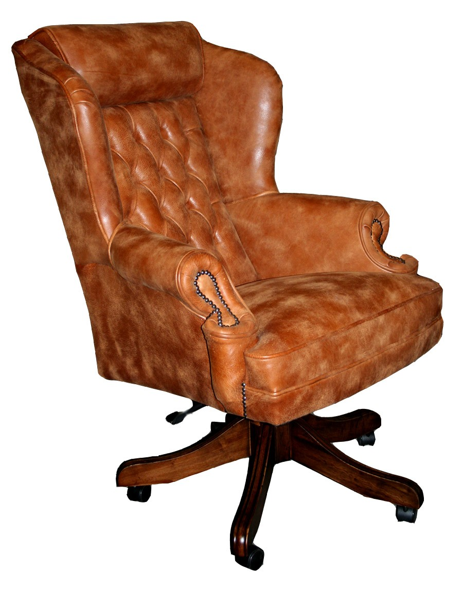Chesterfield office chair - Classic Wing Executive Office Swivel Chair Extra Wide House Of Chesterfields