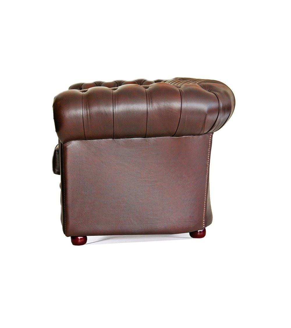 Buckingham 3 seater Chesterfield English Leather Sofa