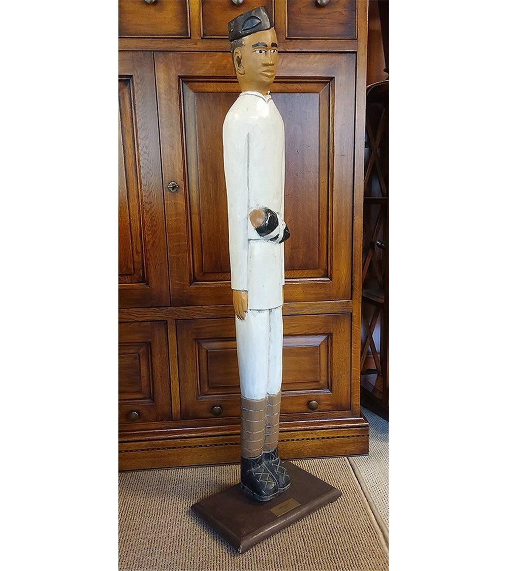 Side Lamp Traditional Handmade English Croc Shade Wood Column