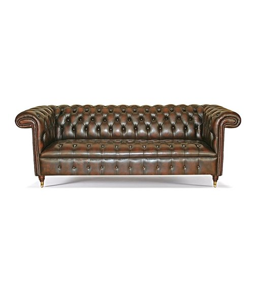 Bayardo Midi Handmade Chesterfield Leather Sofa