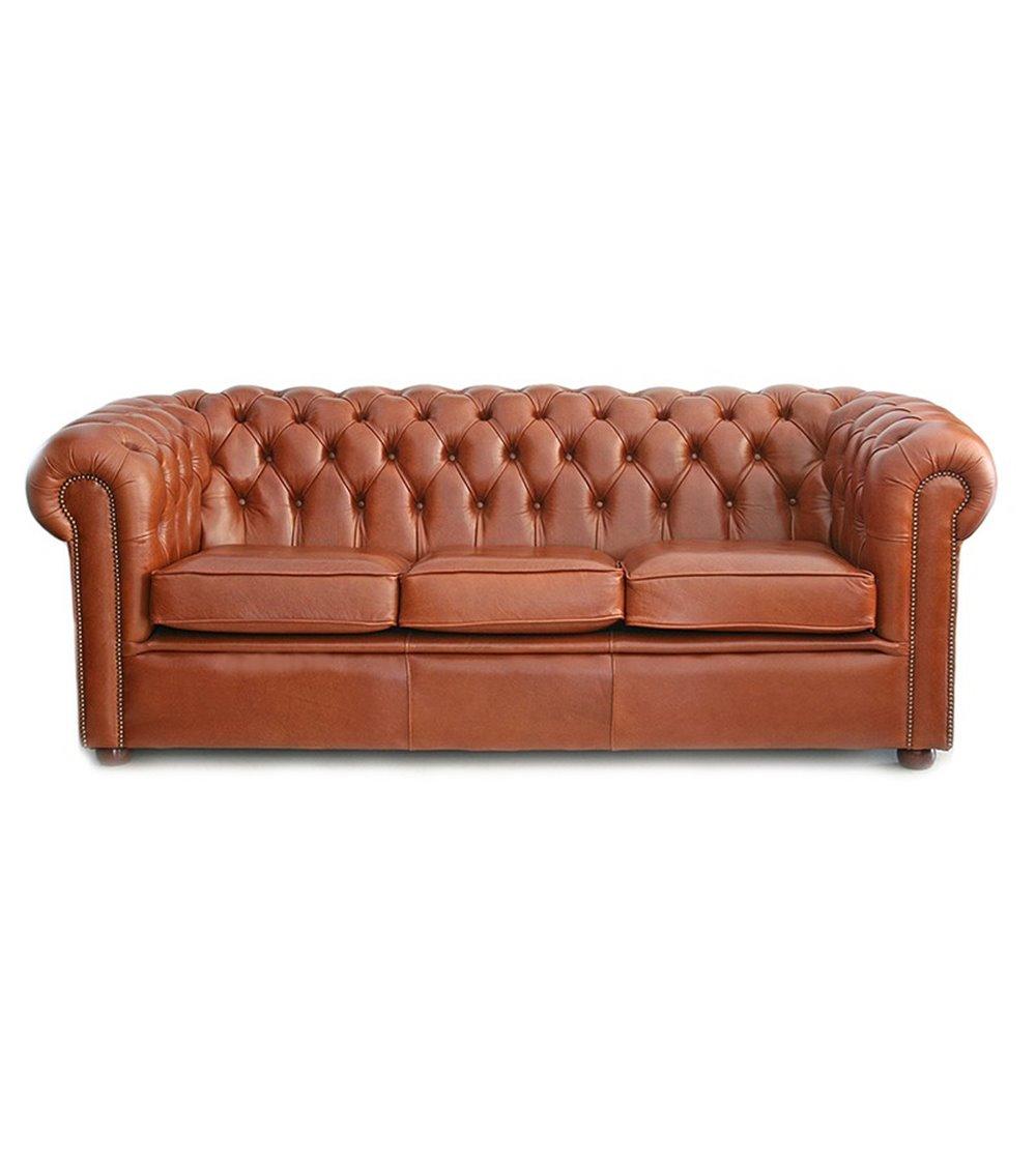 Chesterfield Highback Handmade Leather Sofa