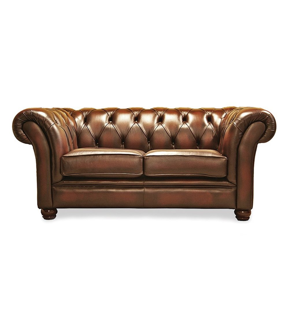 Riley 3 Seater Handmade English Leather Chesterfield