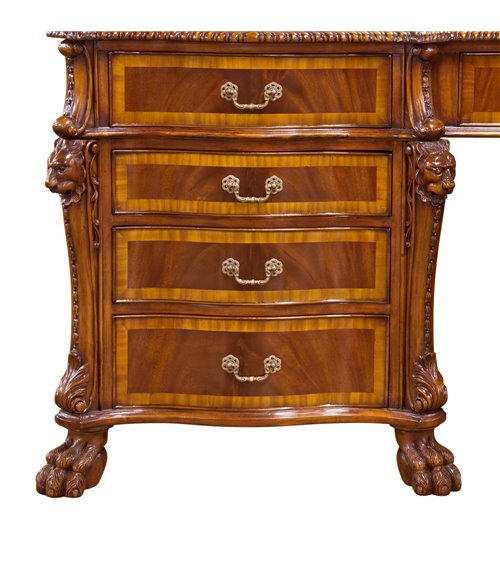 Round Top Traditional Handmade English Carved Table