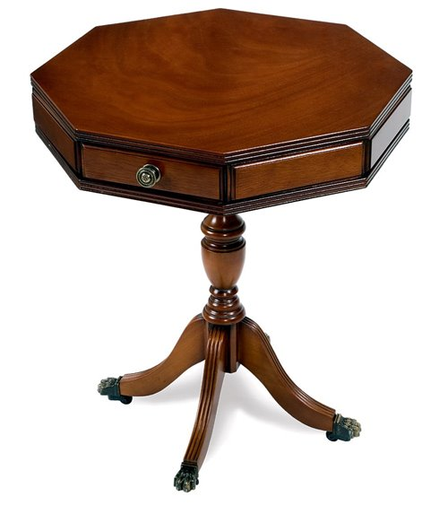 Nesting Tables Traditional Handmade English Leather Top