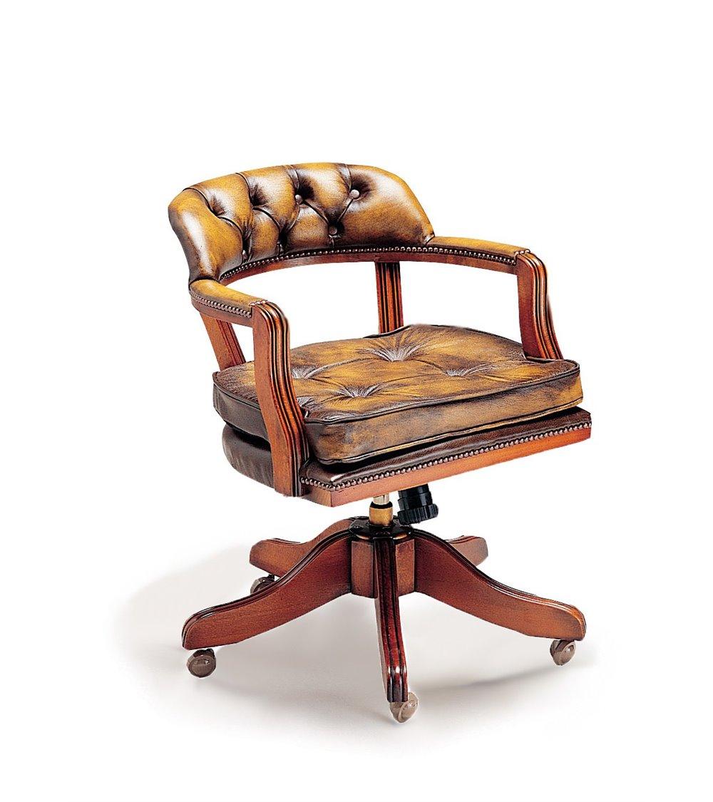 Pedestal Traditional English Handmade Leather Top Desk Burl