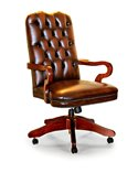 Era Traditional English Handmade Chesterfield Leather Chair