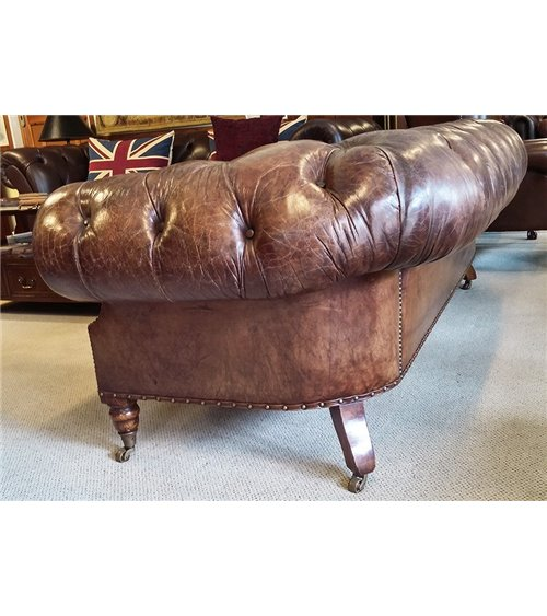 Pedestal Traditional Handmade English Large Mahogany Desk