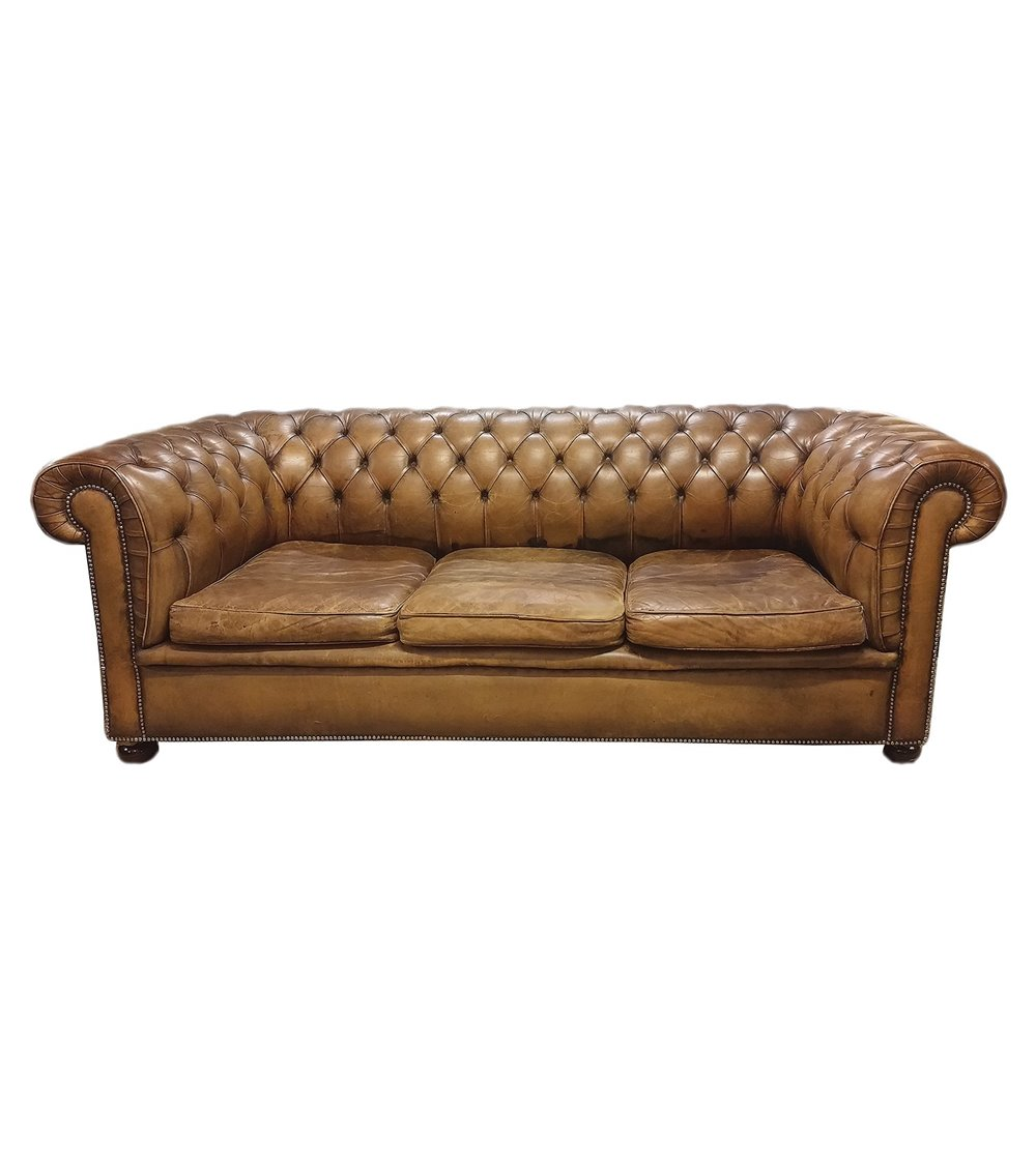 Captains Handmade Leather English Chesterfield Swivel