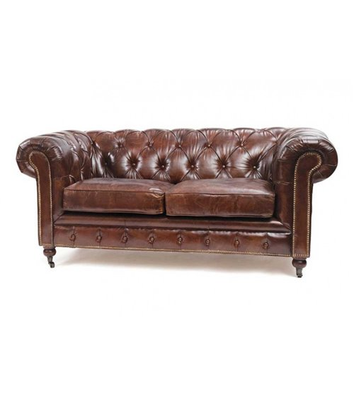 Barrington Traditional Leather Handmade Chesterfield Stool