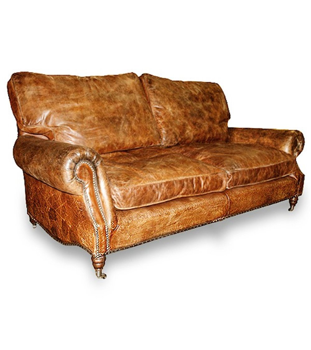 Marlborough Traditional Handmade English Leather Chesterfield S