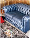 Vintage Chesterfield 1960's 3 Seat English Leather Sofa