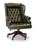 Angel Chesterfield Wing Chair with Plain Back