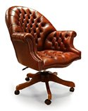 Tiffany Hybrid 2 seat Chesterfield English Leather Sofa
