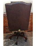Tiffany Tub Plain Back Handmade Chesterfield English Leather Sof