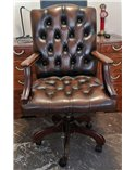 Tiffany 2 Seater Traditional Handmade English Leather Chesterfie