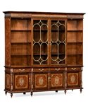 Two Drawer Handmade Traditional English Low Bookcase