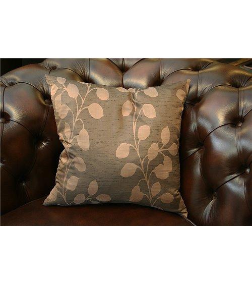 Brown Flower English Handmade Cushion