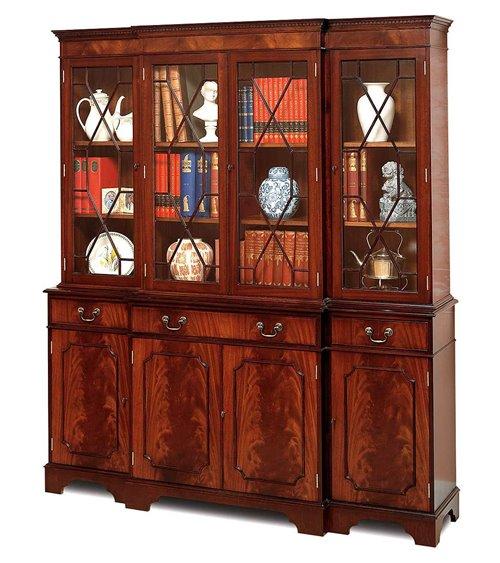 Bookcase 4 Door Handmade Traditional English Breakfront
