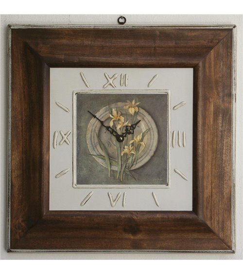 Clock and Lilie Handmade Picture Frame Clock