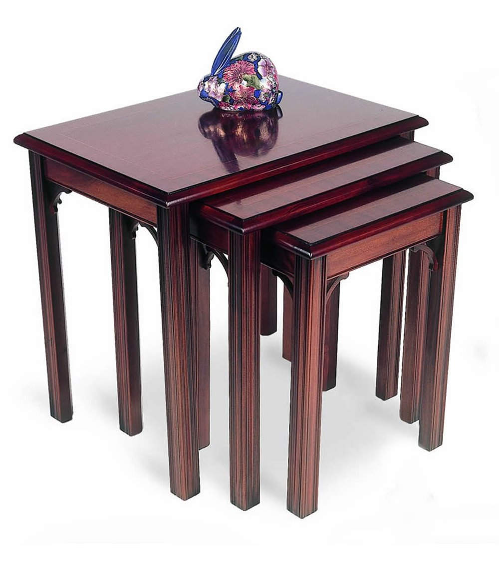 Chippendale Traditional English Handmade Nest of Tables