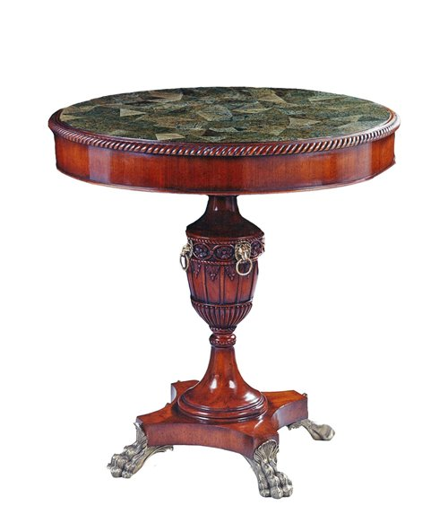 Round Occasional Traditional Handmade English Marble Top Table