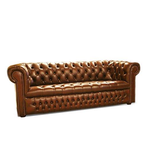 Buckingham English Handmade Leather Chesterfield Button Seat Sof