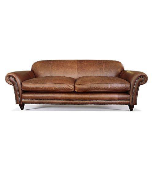 Royal Traditional Handmade English Leather Chesterfield Sofa
