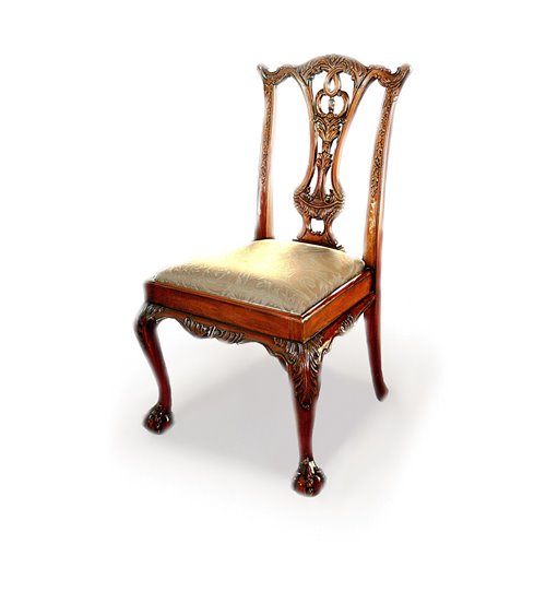Chippendale Traditional English Handmade Dining Chair