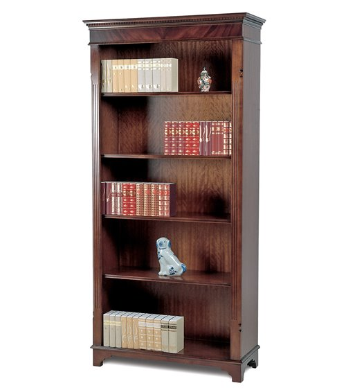 Open Handmade Traditional English Bookcase