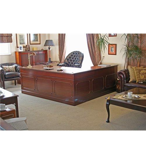 Corner Executive Handmade Traditional English  Desk