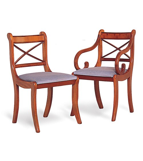 Cross Stick Traditional English Chesterfield Dining Chair