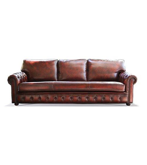 Blenheim English Leather Handmade Sofa