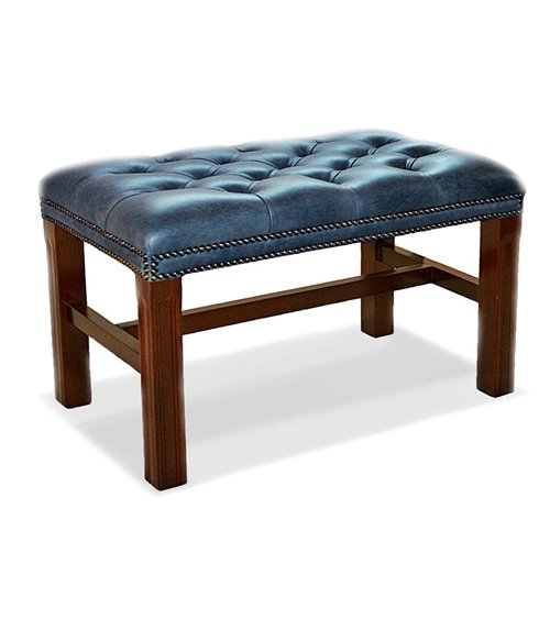 Chippendale Traditional English Chesterfield Stool