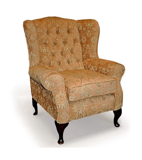Classic Wing Handmade Chesterfield Chair in Fabric