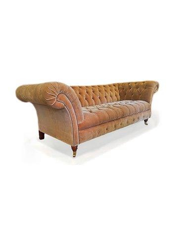 Belmont Velvet Traditional Handmade English Chesterfield Sofa