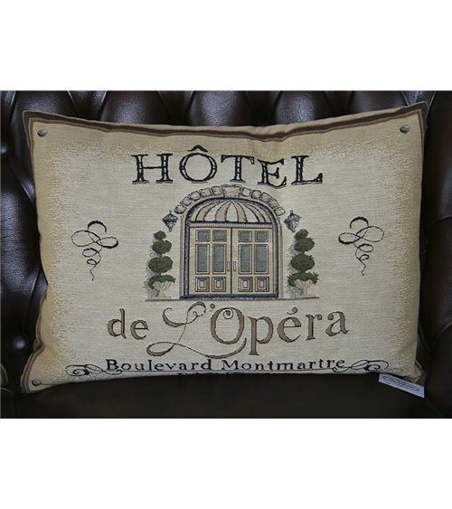 Hotel  De L'Opera Traditional Handmade English Tapestry Cushion