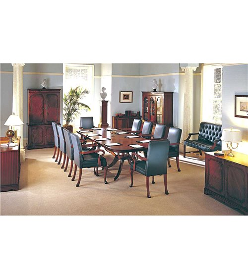 Birdcage Traditional English handmade Conference Table
