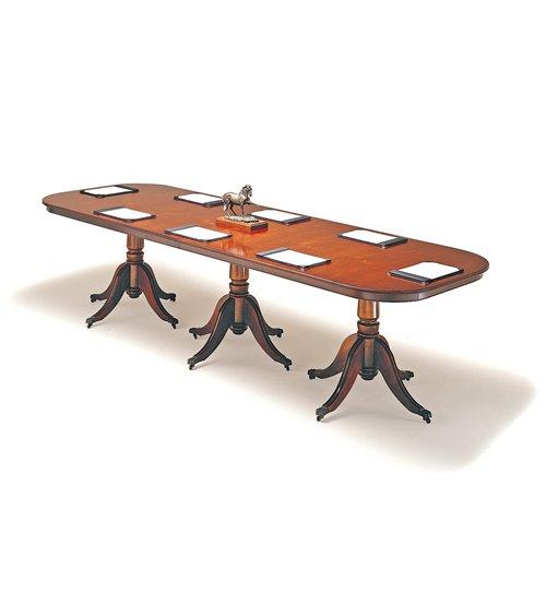 Pedestal Base Handmade Traditional English Conference Table
