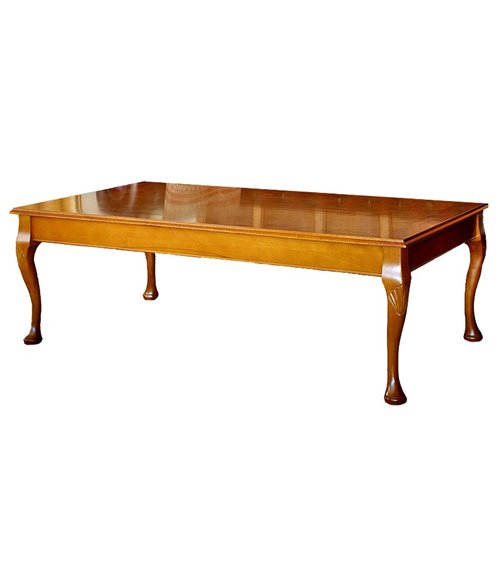 Queen Anne Handmade Traditional English Burr Top Coffee Table