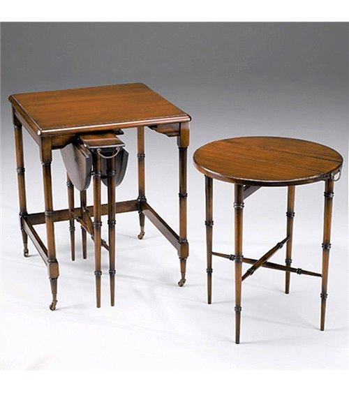 Nesting Tables Handmade in Walnut Group of Three