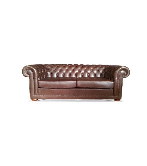 Harewood Handmade English Leather Chesterfield Sofa