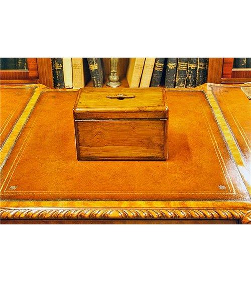 Vintage Yew Wood Victorian Cigar Box