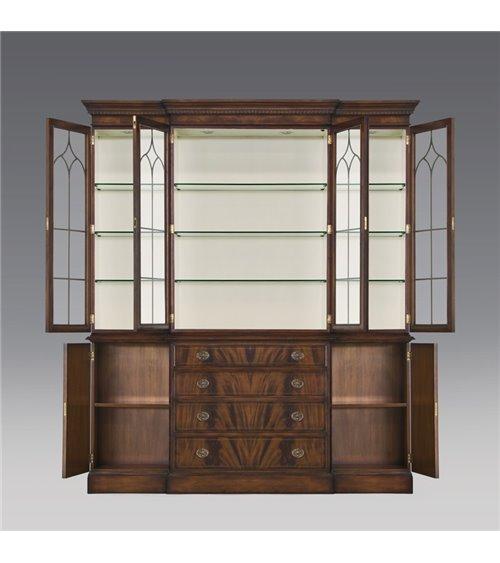 Cardiff Breakfront 4 Door Bookcase