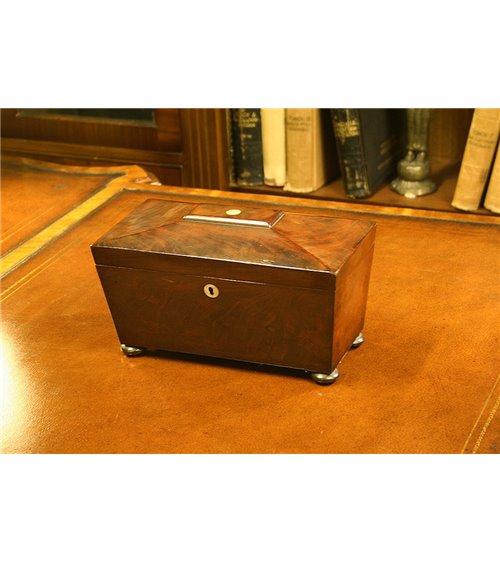 Mahogany Sarcophagus Tea Caddy