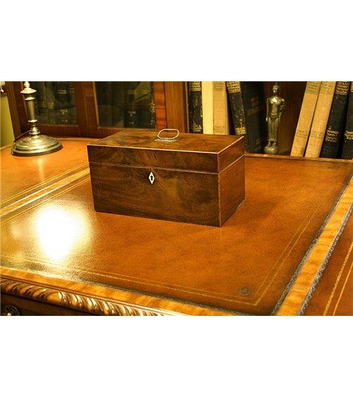 Mahogany Victorian Tea Caddy