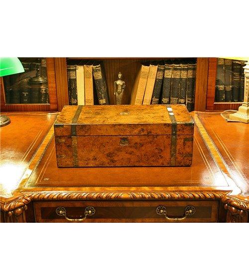 Burr Walnut Writing Slope Box