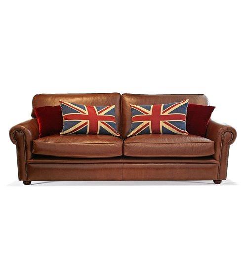 Blenheim Leather Handmade English Sofa