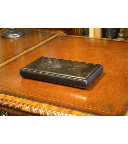 Oriental Black Lacquered Vintage Box